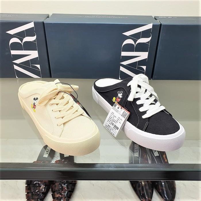 Sepatu Zara Mickey Zara Shoes Mickey Mouse Disney Series Krem