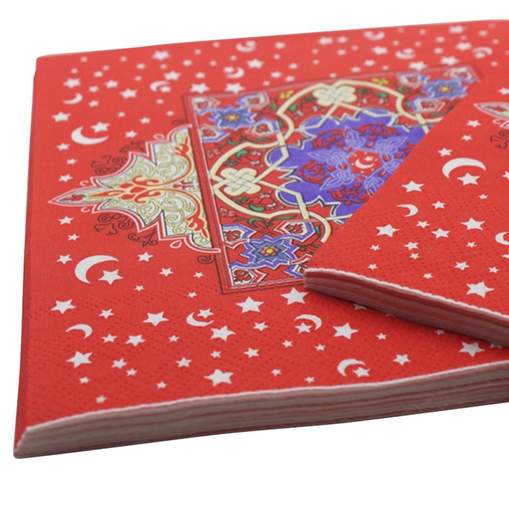 Ramadan Eid Mubarak Decoration Printing Paper Napkin Table Decoration Paper Towels Shopee Indonesia