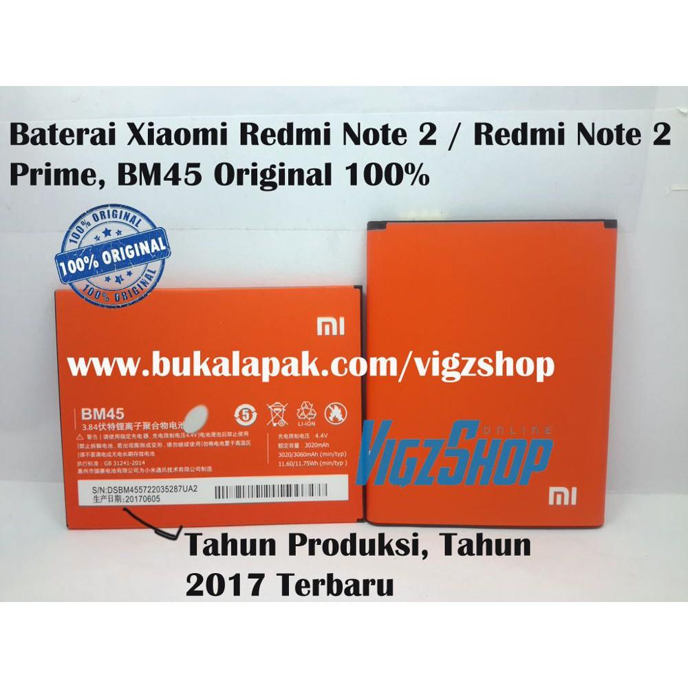 New Product Baterai Xiaomi Redmi Note 2/ Redmi Note 2 Prime/ Bm45 Original Free Ongkir | Shopee Indonesia