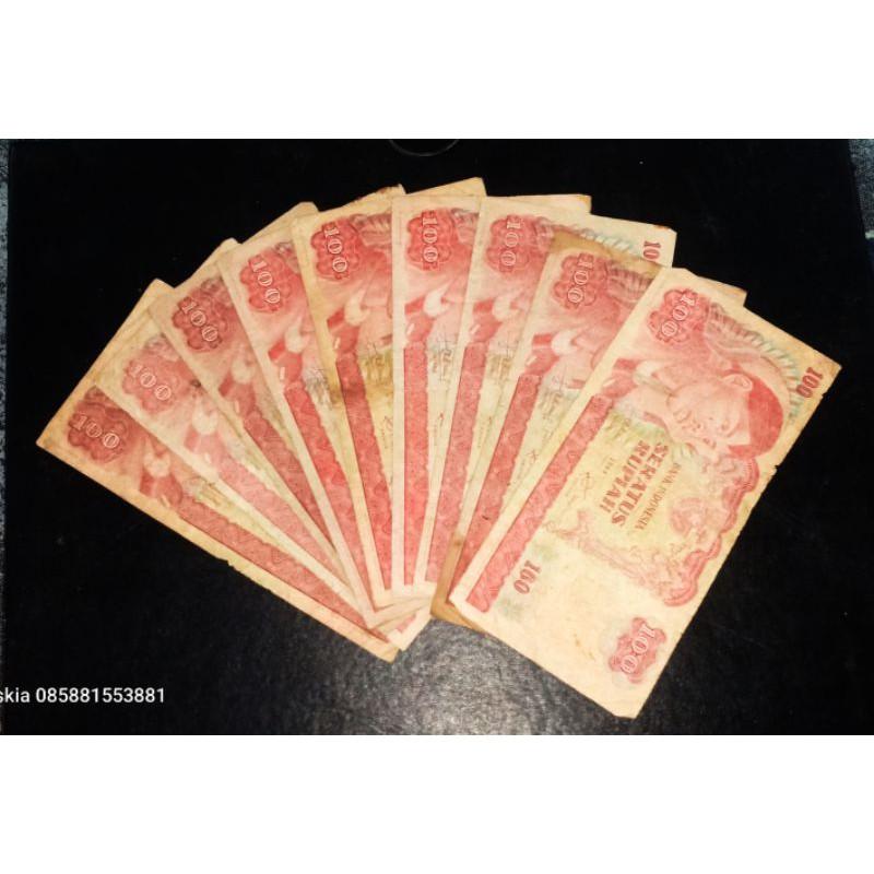 uang kertas Rp 100 sudirman 1968 bukan 500 sudirman bukan 1000 sudirman bukan 5000 sudirman