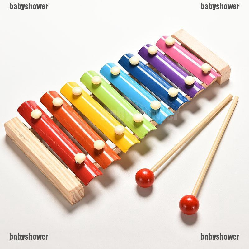 Baby Kid Musical Wooden Toys Xylophone Wisdom Development Wooden Instrument Gift