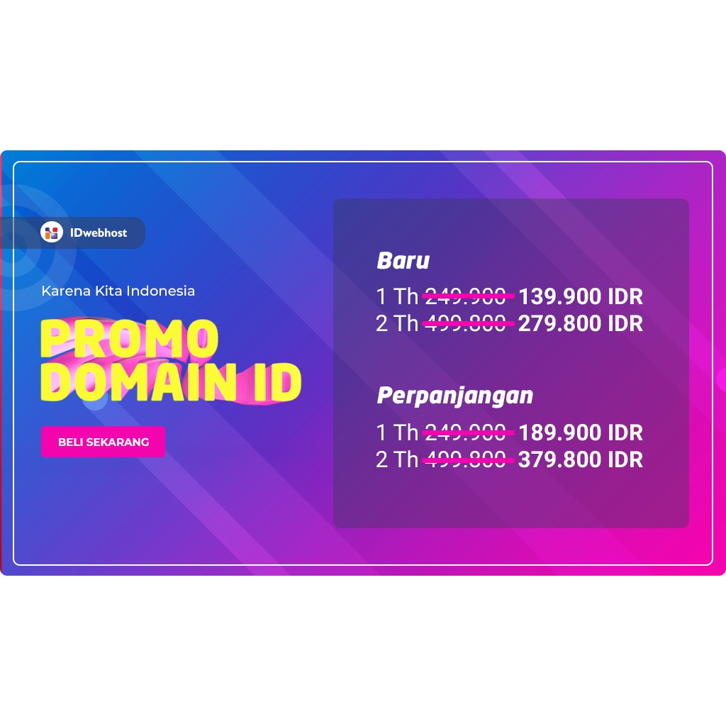 Promo Domain .ID   Shopee Indonesia