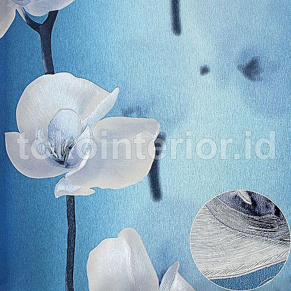 Wallpaper Dinding Murah Bunga Tulip Putih Biru Cantik Dan Elegant R117 Shopee Indonesia