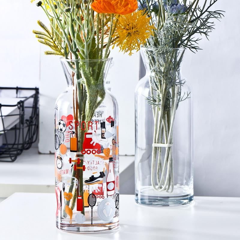 Perhiasan Dekorasi Hijau Dill Vas Botol Kaca Impor Hidroponik Wadah Tanaman Dill Hijau Vas Bunga Shopee Indonesia
