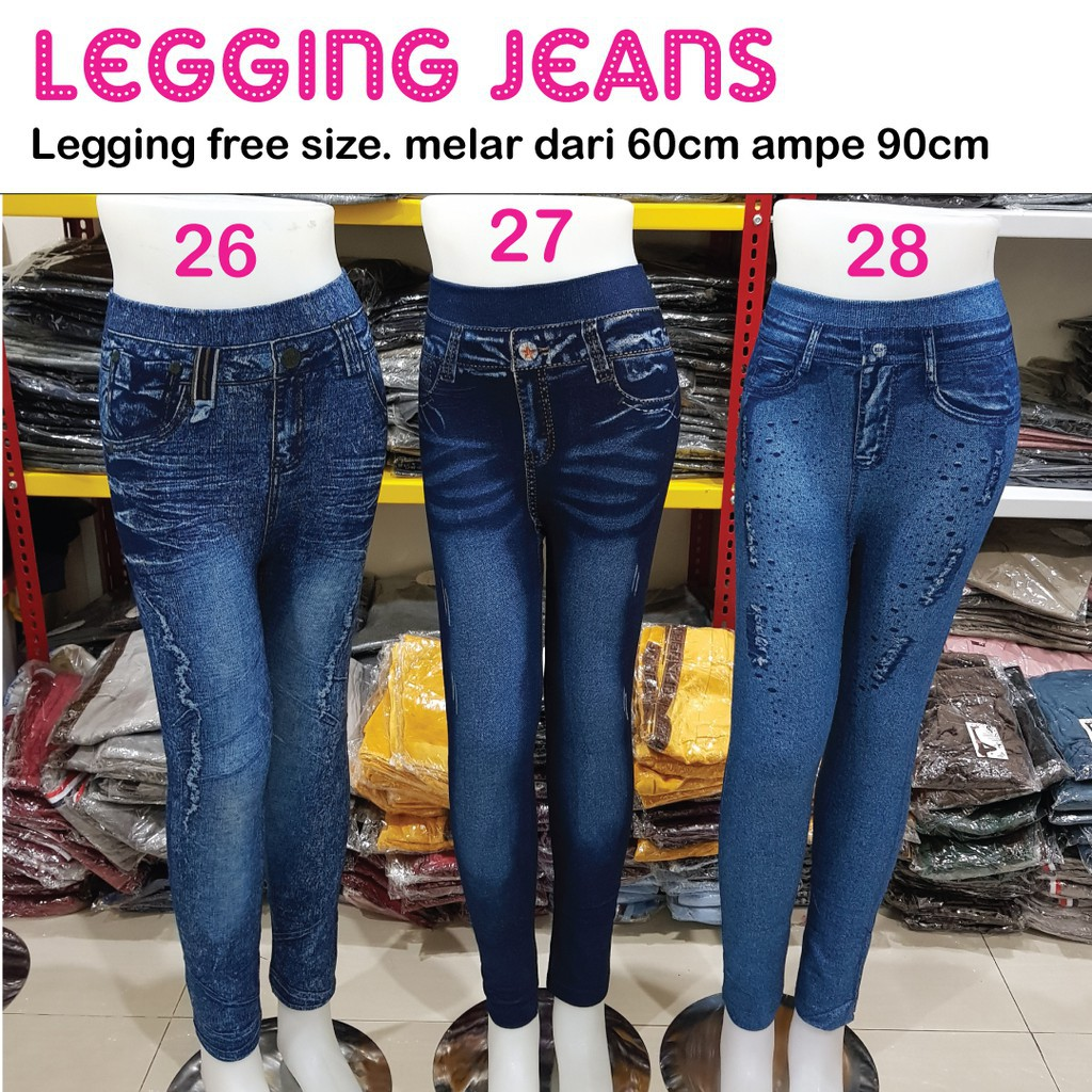 Kualitas Bagus Dijamin Awet Celana Legging Wanita Panjang Leging Jeans Wanita Legging Wanita Shopee Indonesia