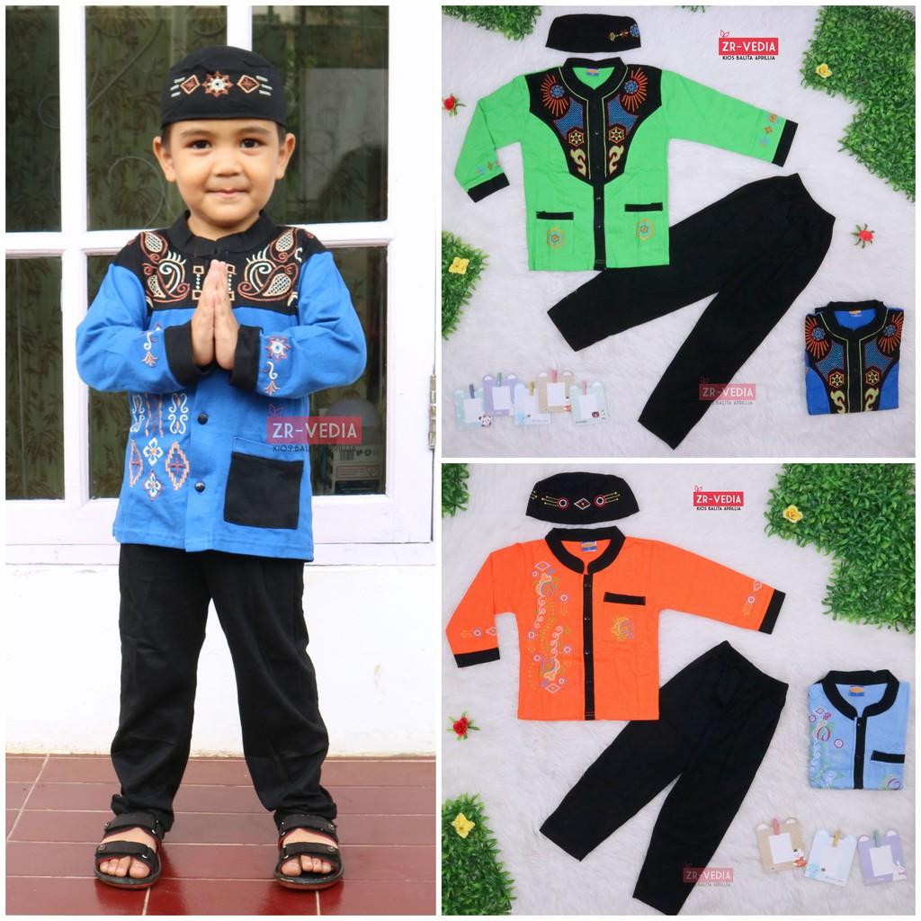 Baju Koko Anak uk. 1-2 Tahun / Baju Muslim Setelan Laki