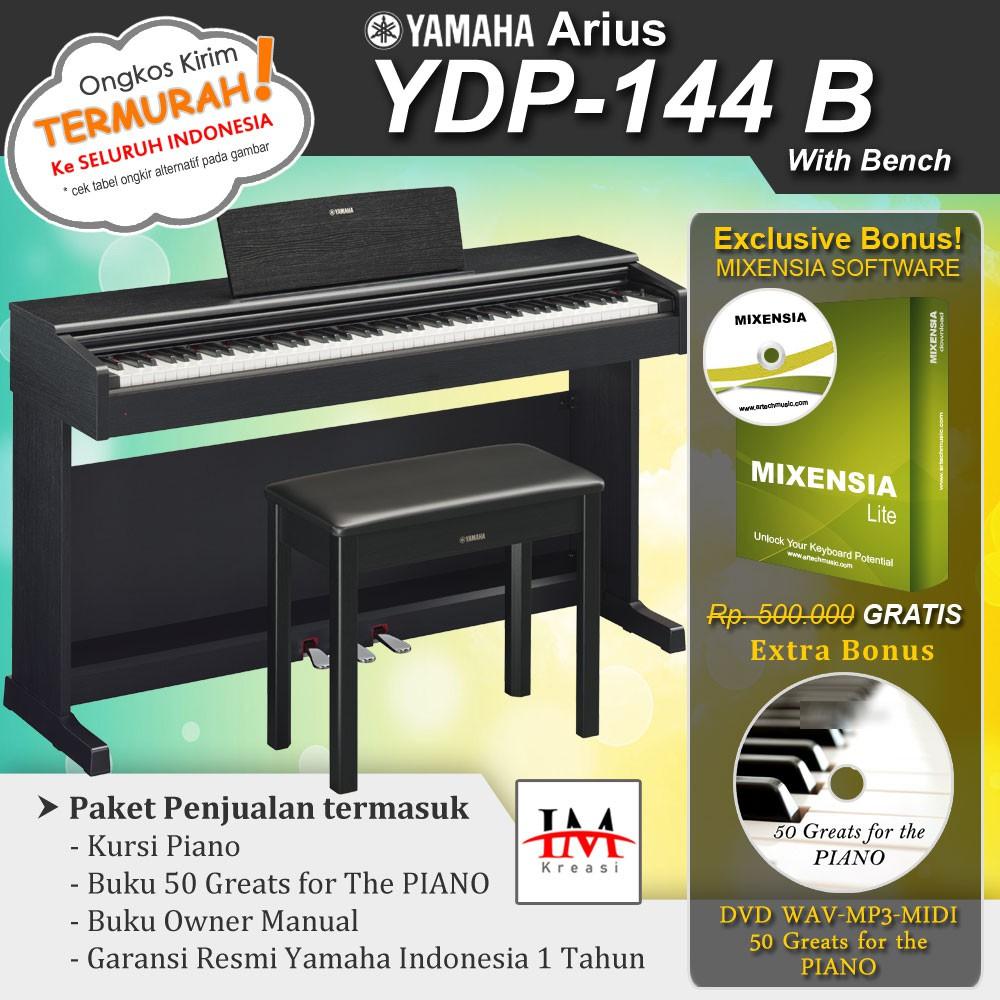 Yamaha Arius YDP 144 / YDP144 -Penerus YDP-143/YDP143 Piano Digital - Putih