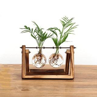 Vases Set Of 2 Metal Flower Vase Glass Vase Planter Terrariums Gold