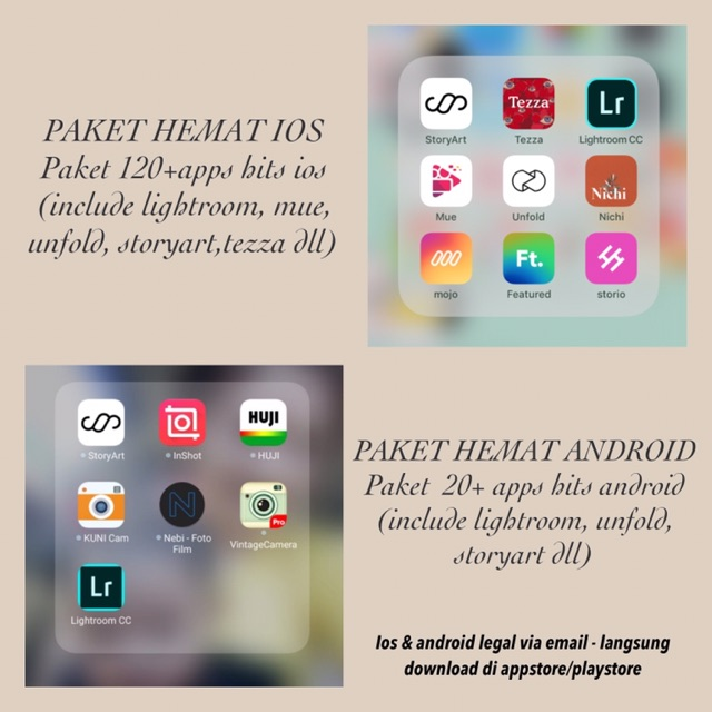 Unfold Fullpack Ios & Android (free 130+ apps hits editor)