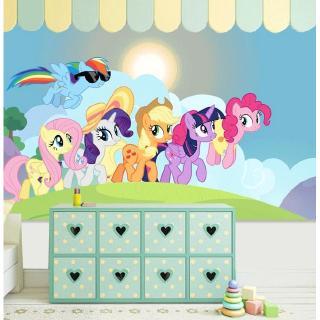 My Little Pony Wallpaper Animasi Kartun Anak Toko Wallpaper Kamar Tidur Tema Cute Girl 5d Mural Wall Shopee Indonesia