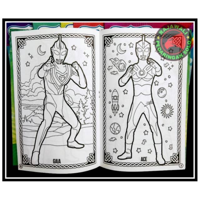 Buku Mewarnai Ultraman Buku Anak Coloring Book Shopee Indonesia