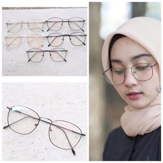 Frame kacamata 8621 niki classic besi pria wanita trendi minus plus  silinder anti radiasi eefb2a6610