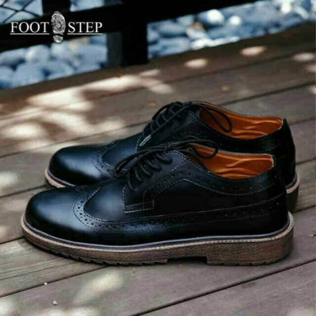 Foot step Original - Casual Wingtip Sepatu wingtip Original Formal Casual  Pria Footstep Ori  98803eda01