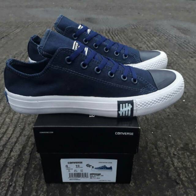 19947fd4f923 Sepatu Converse CT 2 All Star Undefeated Navy Low Original Premium Made In  Vietnam BNIB Skateboard