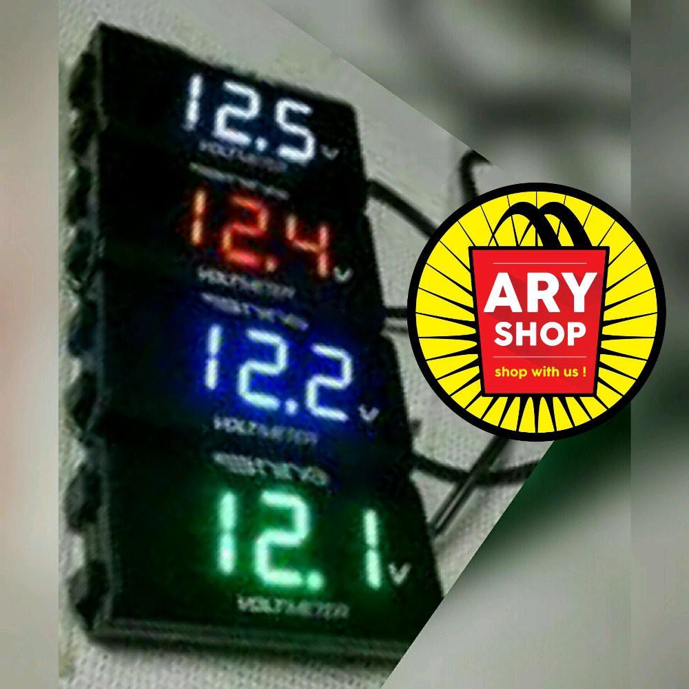 Grosir Nine Luminos Led Volt Meter Red Shopee Indonesia Lampu Sen Gt T10 1206 9 Isi2pcs