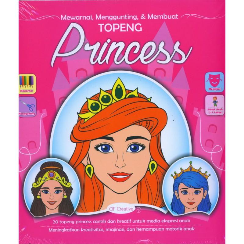 Mewarnai Menggunting Membuat Topeng Princess Shopee Indonesia