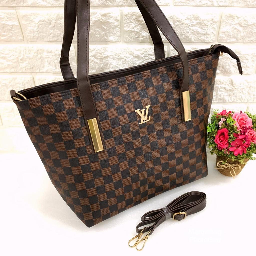 Tas LV CARLOS tas tote bag wanita besar murah bagus bisa ...