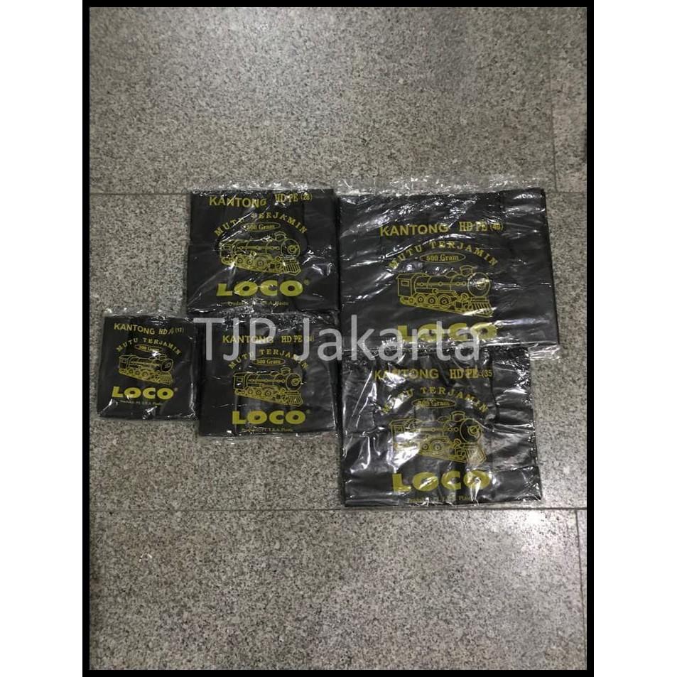 Kantong plastik kresek merah Loco ukuran 17-40 per 500 gram | Shopee Indonesia