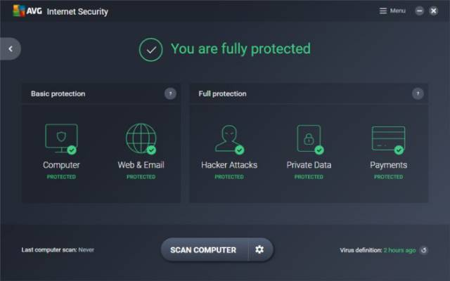 Download AVG Internet Security /& Antivirus 2019 1 Device 1 Year Retail License