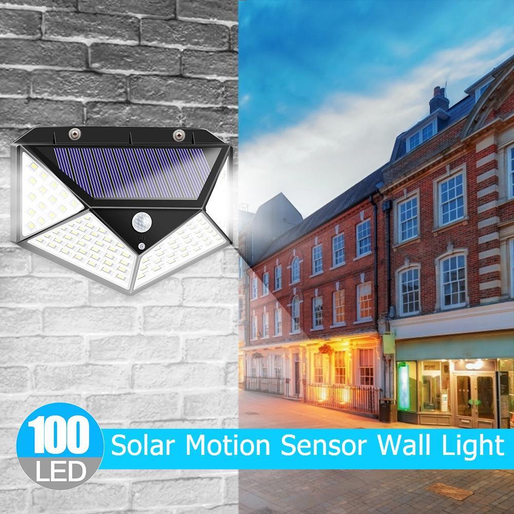 60 100 LED Solar Power PIR Motion Sensor Security Light Lamp Solar Energy UK NEW