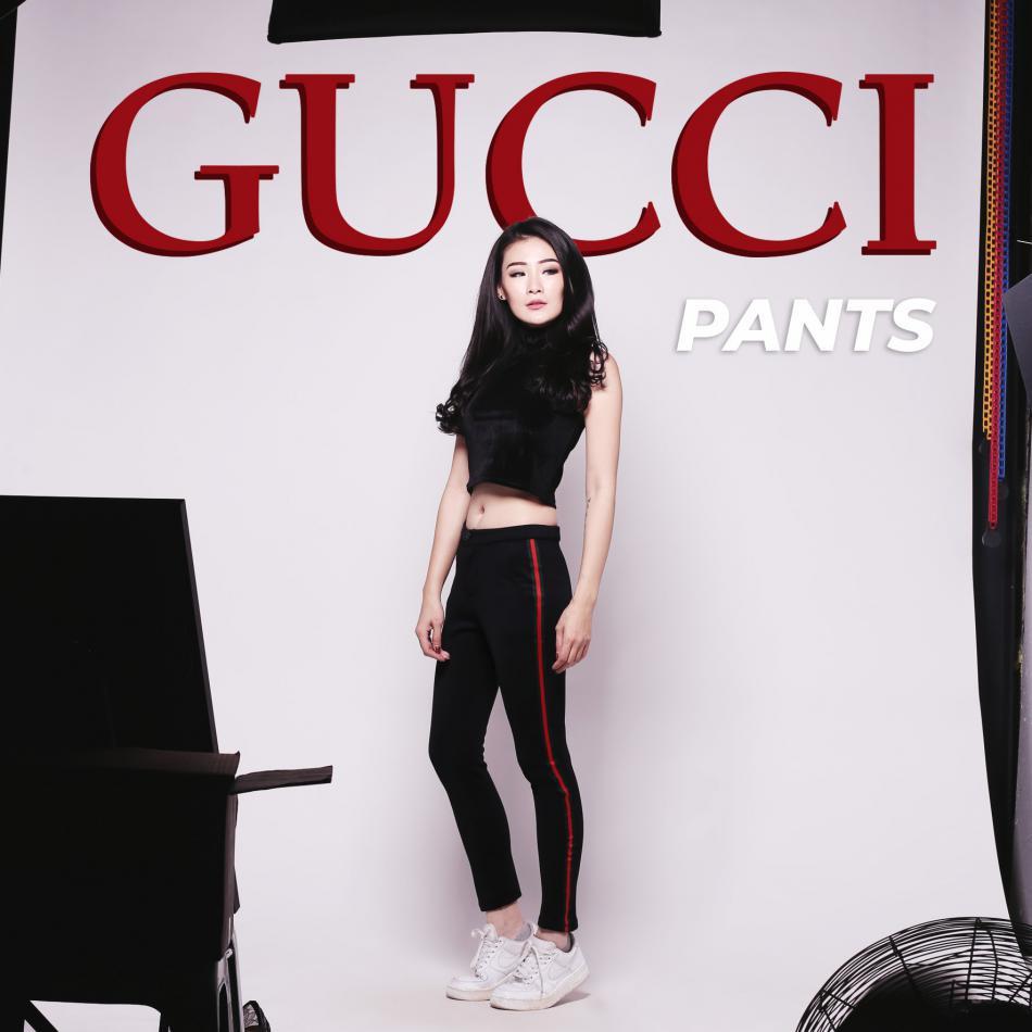 Side Stripe Pants Celana Zara Shopee Nagita List Hitam Merah Bahan Scuba Indonesia