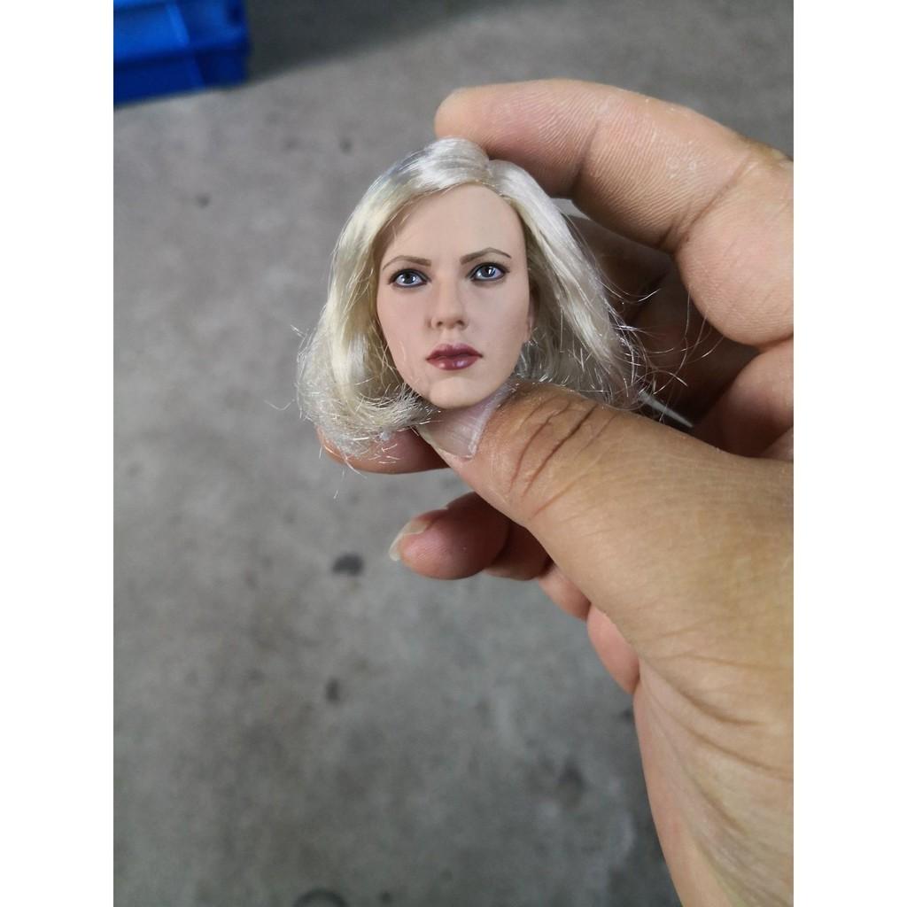 1:6 Scarlett Johansson Headsculpt Blonde Short Hair Fit 12/'/' Lady Figures