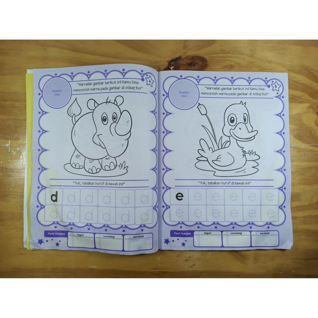 Buku Mewarnai Latihan Menulis Anak Tk Paud Tema Binatang Bonus Aplikasi Android Shopee Indonesia
