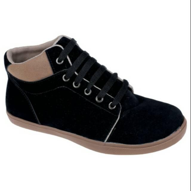 Sale Sepatu Sneakers Anak Cowok Sepatu Anak Laki Laki Warna Hitam