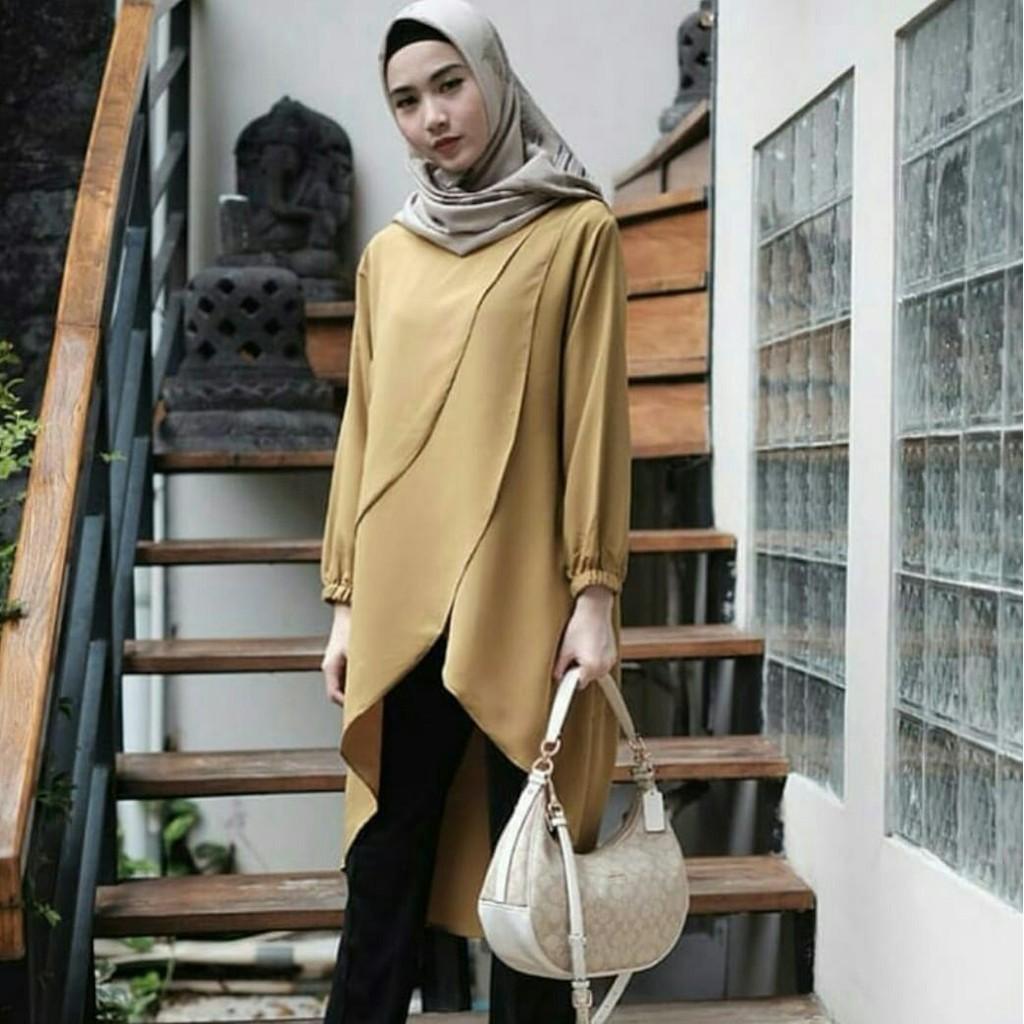 Jilbab Atasan Muslim Tunik Blouse Gamis Temukan Harga Dan Baju Wanita Cewek Hijaber Maxy Maxi Long Veana Dress Limited Penawaran Online Terbaik September 2018 Shopee Indonesia