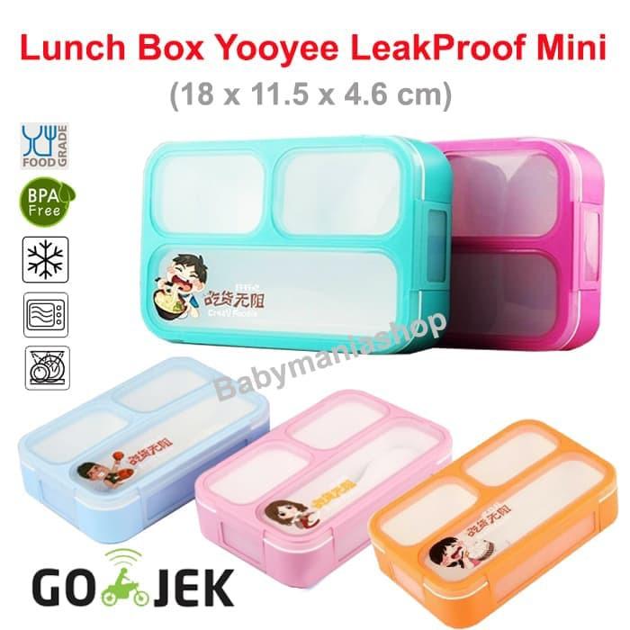 Lunch box sekat 4 Yooyee 578 grid / kotak makan bekal lunchbox sekat anti bocor yoyee | Shopee Indonesia