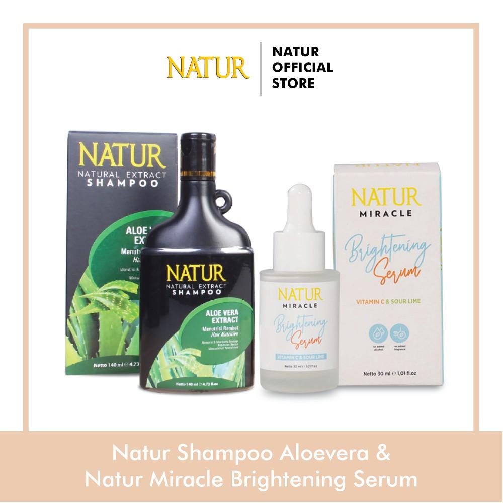 Natur Miracle Brightening Face Serum Natur Shampoo 140 ml