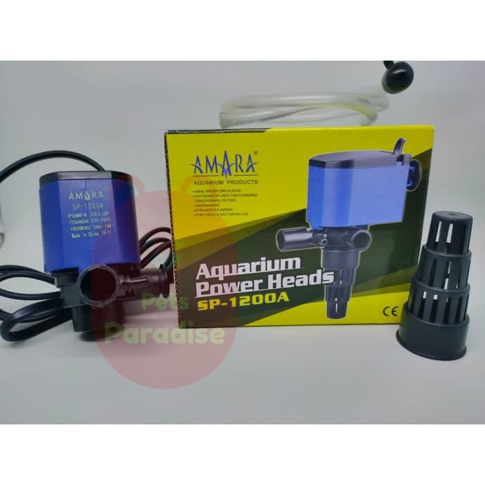 Mesin pompa akuarium Power heads aquarium Amara SP1200A ...