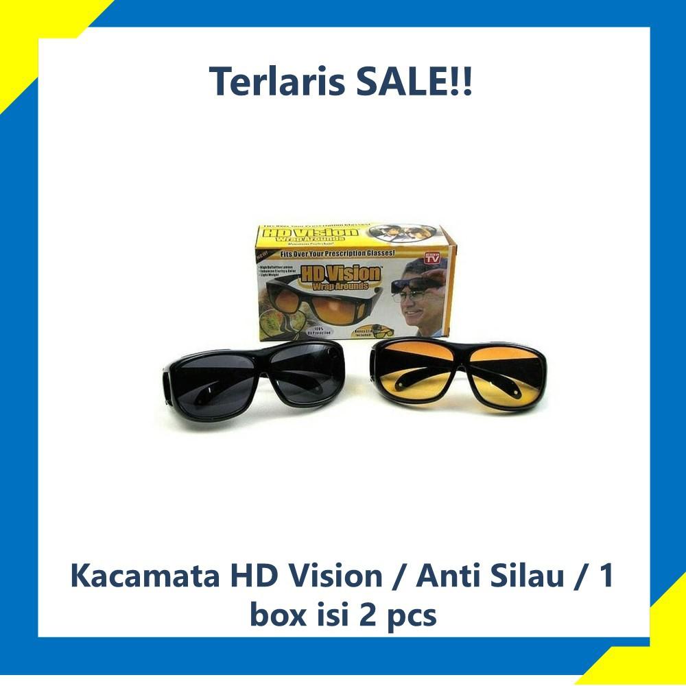 Hd Vision Sunglasses Isi 2 Pcs Kacamata Sunglass Wrap Arounds ... 3ff8aa1d7a