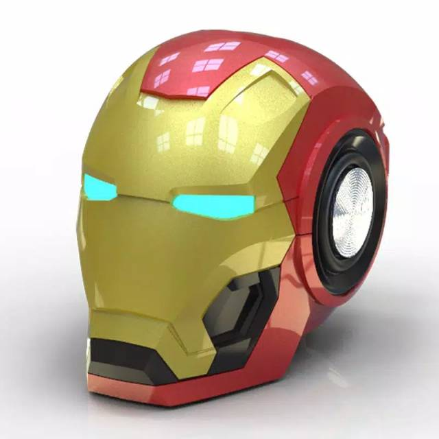 Speaker Wireless Bluetooth Iron Man Portable Mark 46 Ironman Shopee Indonesia