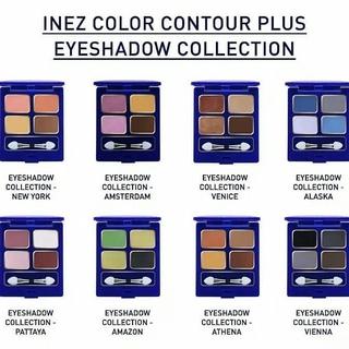 INEZ Color Contour Plus Eye Shadow Collection 4 Warna thumbnail