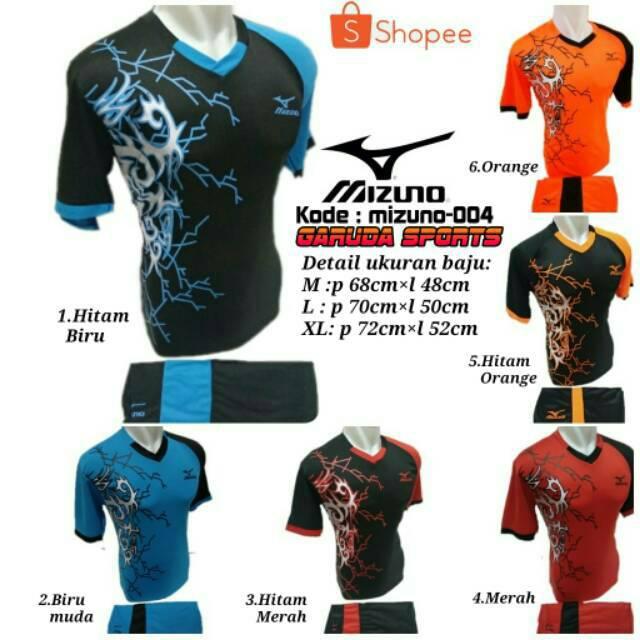 setelan olahraga kaos bola jersey futsal baju volly mizuno abstrak biru muda   aedcbf2be2