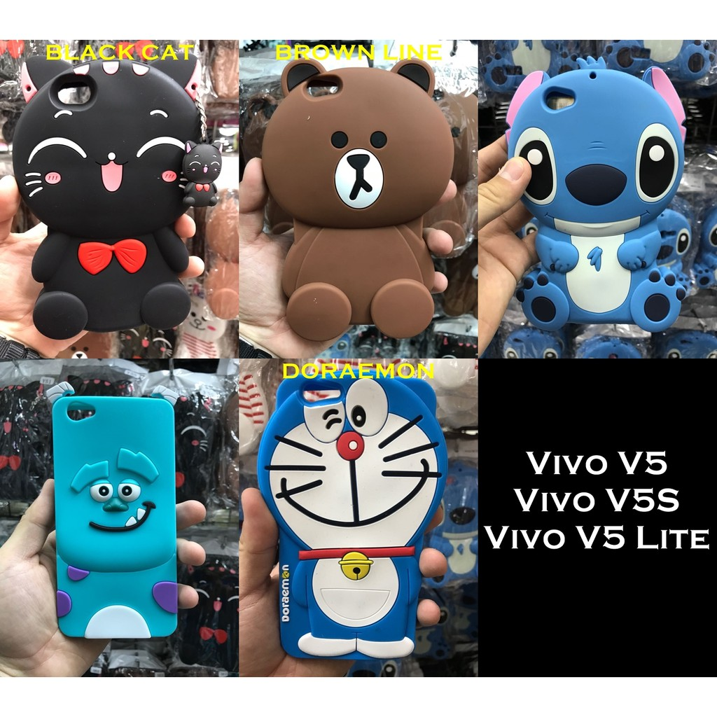Vivo V5 Y67 3d Silicon Cartoon Stitch Soft Case Casing Hp Daftar Plus V5plus Elegant Retro Flip Leather Cover Dapatkan