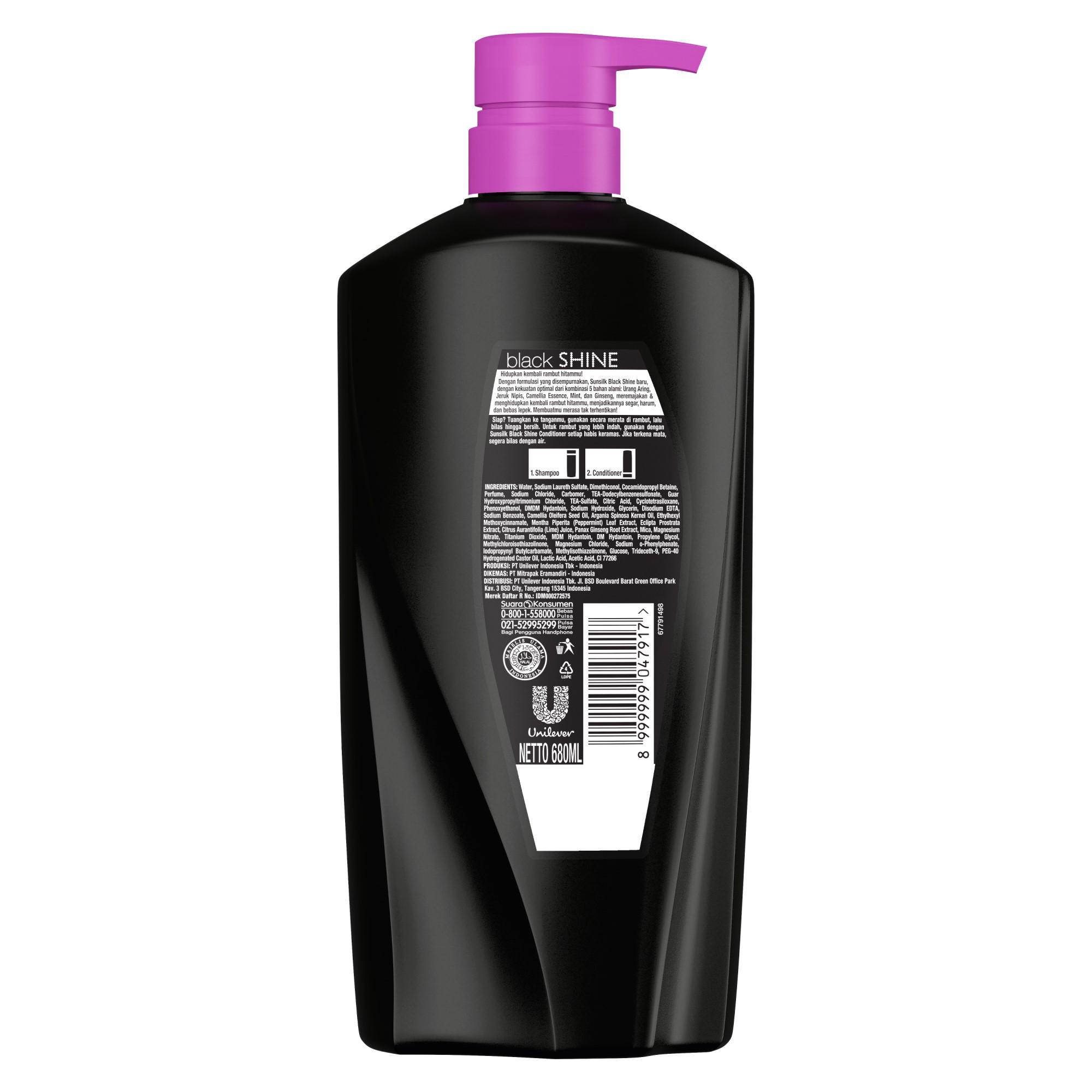 Sunsilk Shampoo Black Shine 680ml Twin Pack-5