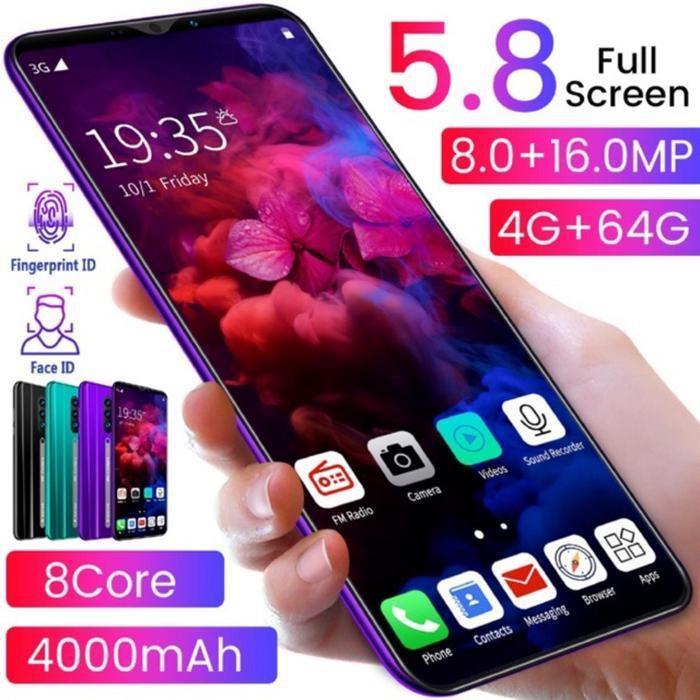 [HP/Tab] Smartphone Android 9.0 Rino 3 Pro RAM 4GB ROM 64GB Jaringan 4G