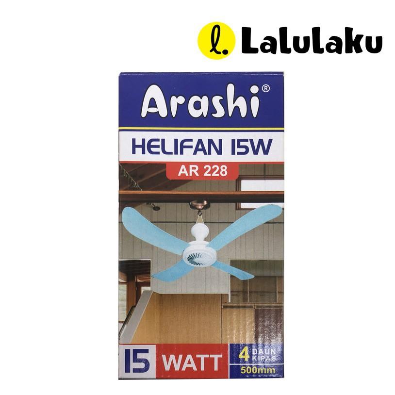Arashi Kipas Angin Gantung Helifan 15w Watt Ar