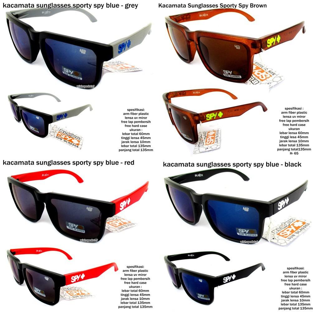 Kacamata Spy White Wall Fire Polarized Lens   sunglasses kacamata cowok  pria hitam lensa fire  b032bffcb3