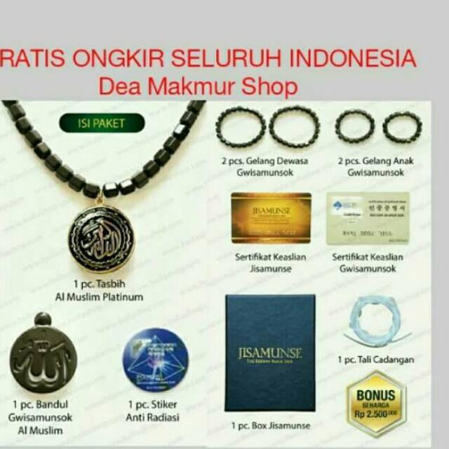ALMUSLIM KALUNG KESEHATAN ORIGINAL GWISAMUNSOK - TASBIH AL MUSLIM BLACK JADE | Shopee Indonesia