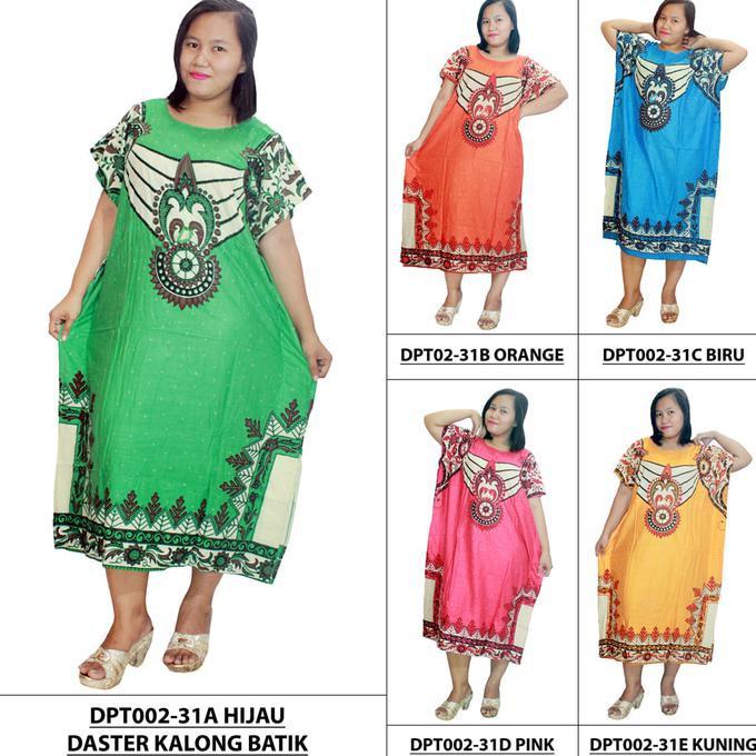 Ahd Dress Santai Jumbo Pakaian Wanita Pendek Model Kalong Batik Dpt002 31 Orange Promo Bulan Ini