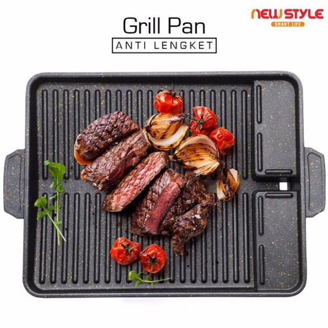 Yakiniku Grill Pan / UGO Korean BBQ Grill Pan / Grill Plate / Wajan Pemanggang Daging Barbeque