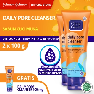 Clean & Clear Daily Pore Cleanser 100 g (Buy 2 Free 1) thumbnail