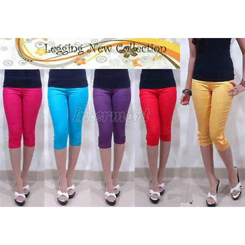 Celana Katun Stretch 7 8 Celana Legging Leging 7 8 Shopee Indonesia