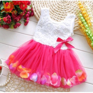 Anak Perempuan Dress Baru BAJU PESTA BAYI DRESS PARTY BABY GIRL 3D FLOWER .