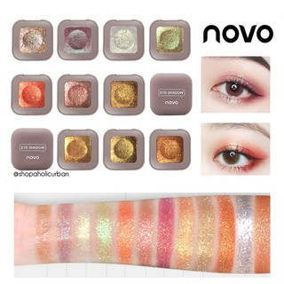 ORIGINAL NOVO Glitter Eyeshadow Make up Shimmer Eyeshadow Pallette Waterproof Novo Eyeshadow thumbnail