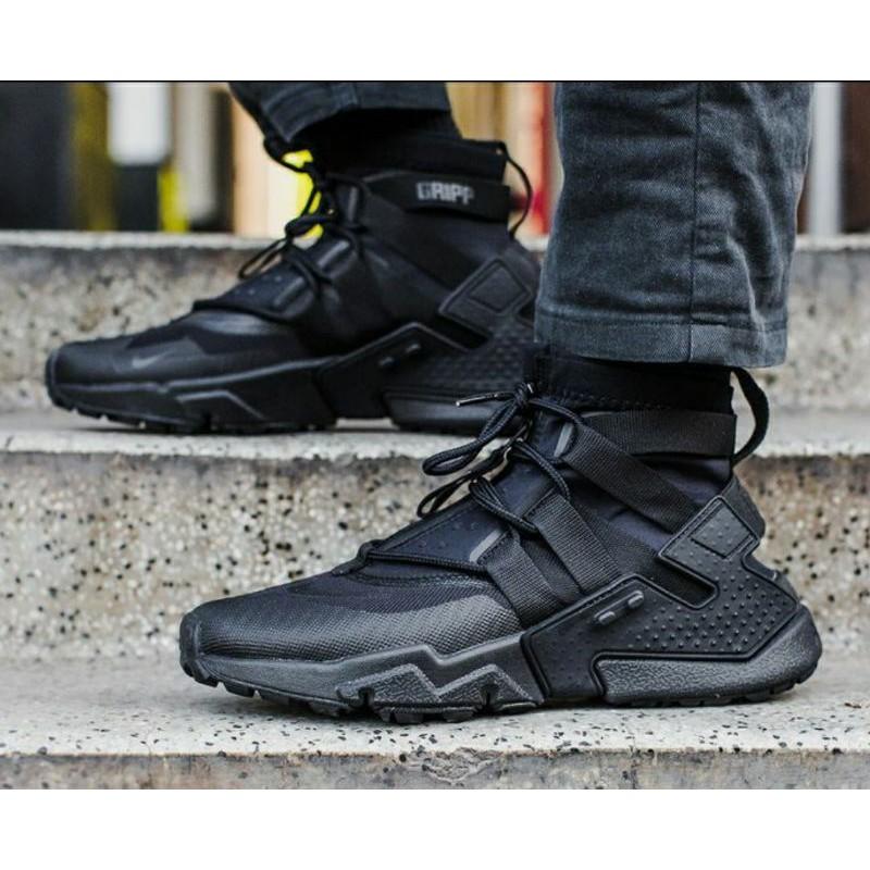 Nike Huarache Gripp Triple Black Premium Original