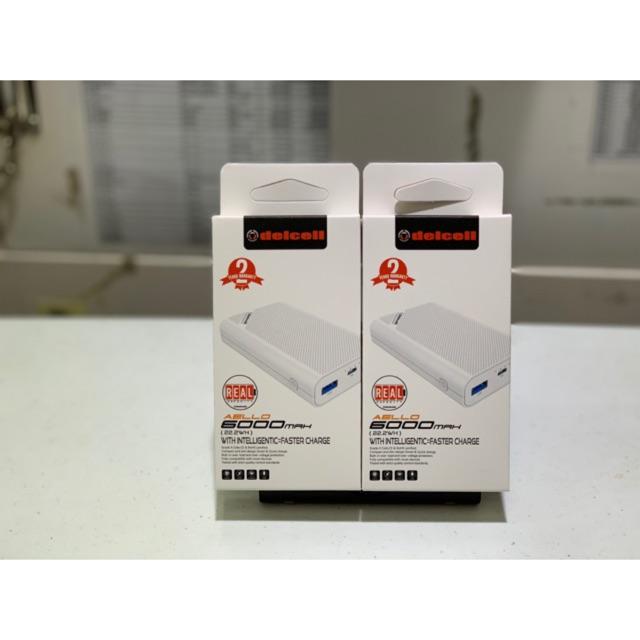 Powebank Delcell AELLO 6000 mah Dual output